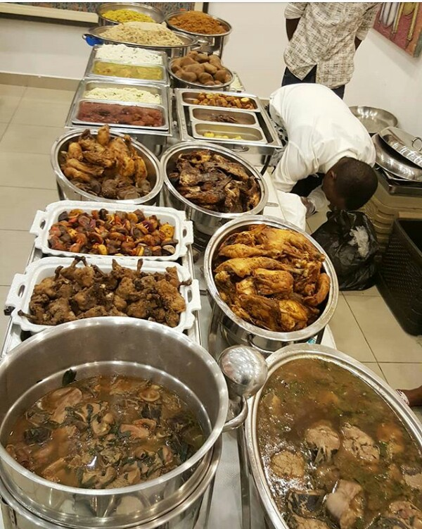Image result for food at nigerian weddings