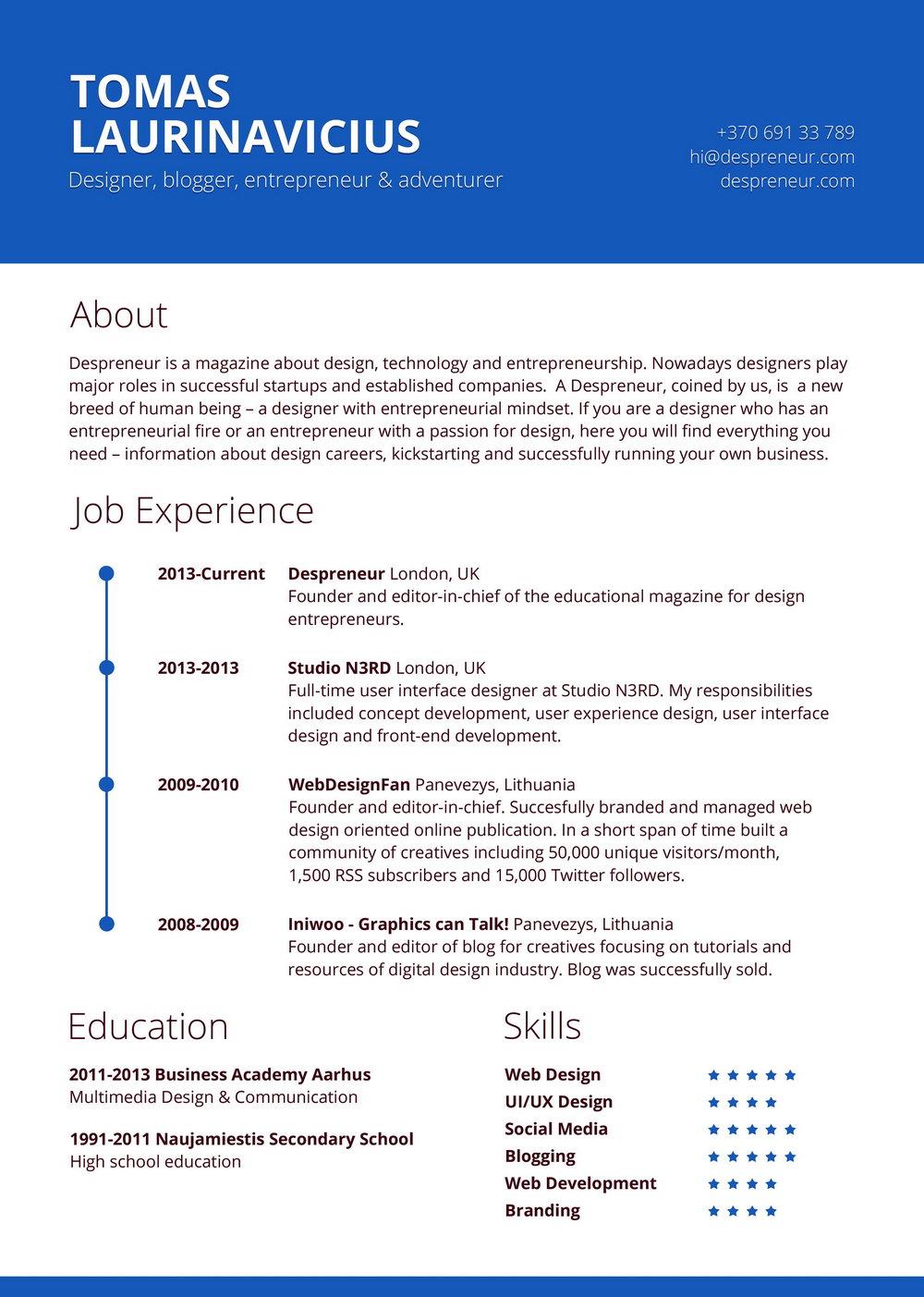 Template Resume Word Free. 50 Free Microsoft Word Resume Templat
