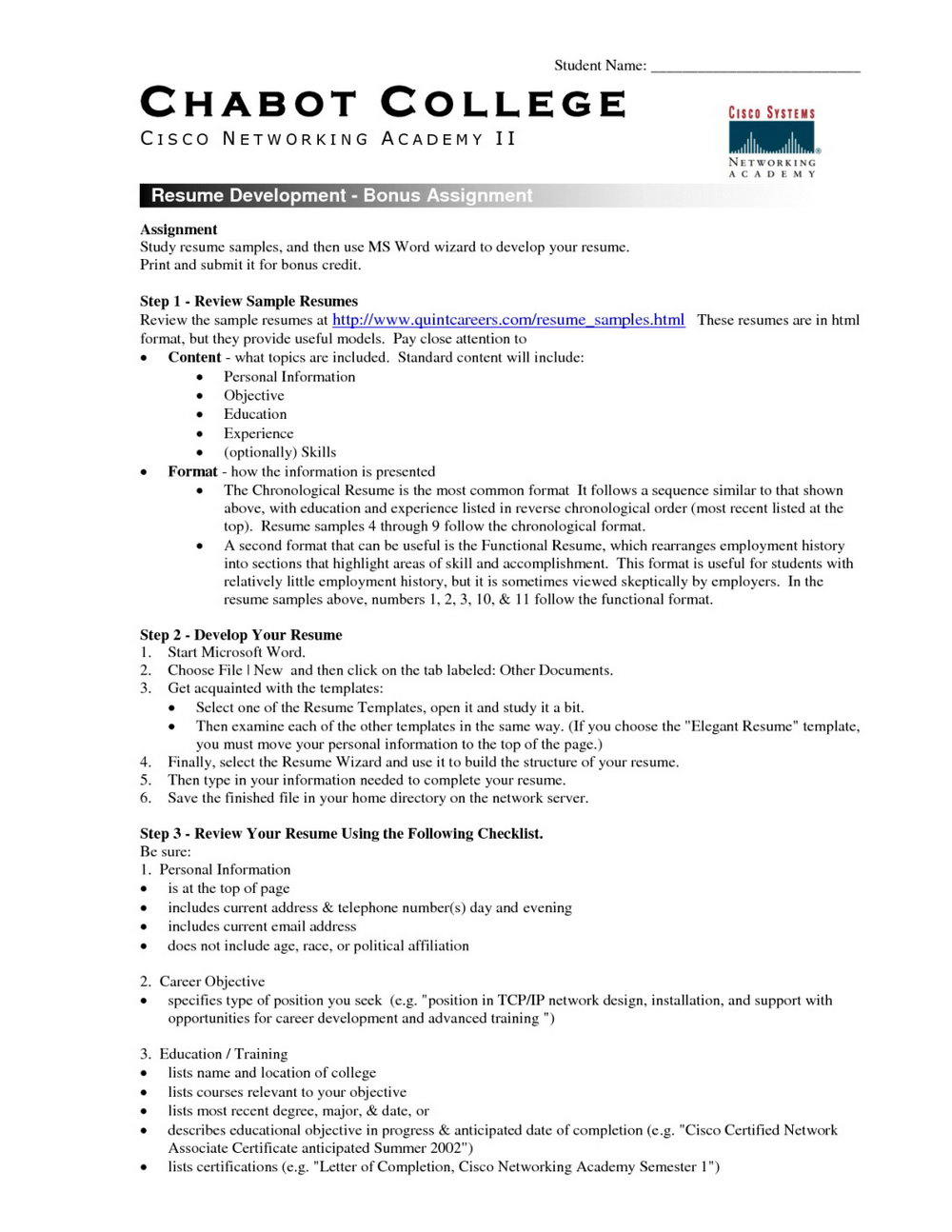 Free Student Resume Templates Microsoft Word Template With Reg