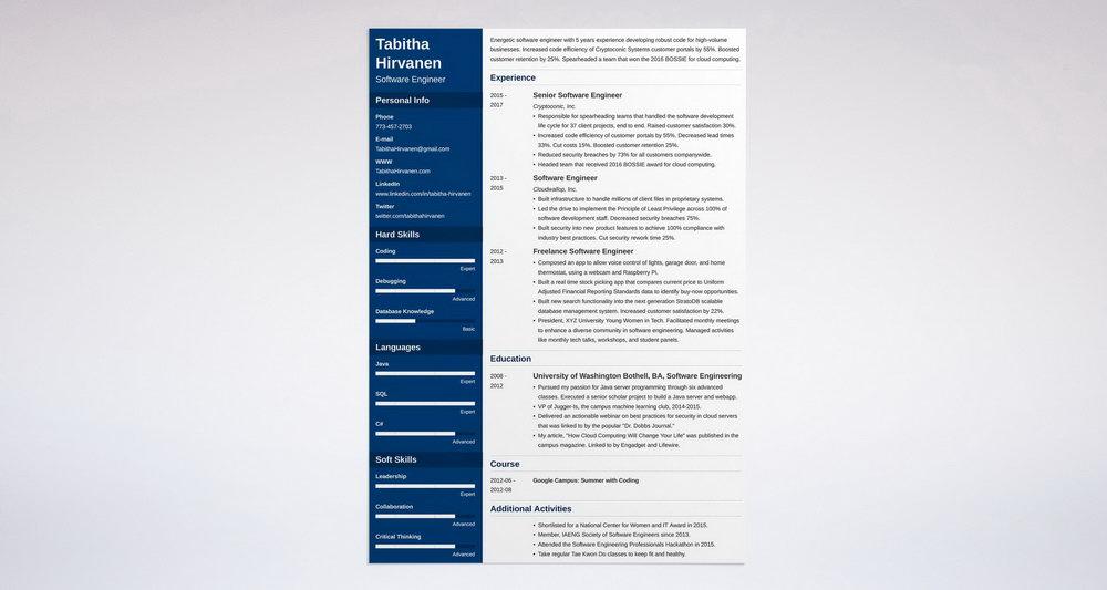 Microsoft Word Free Resume Templates