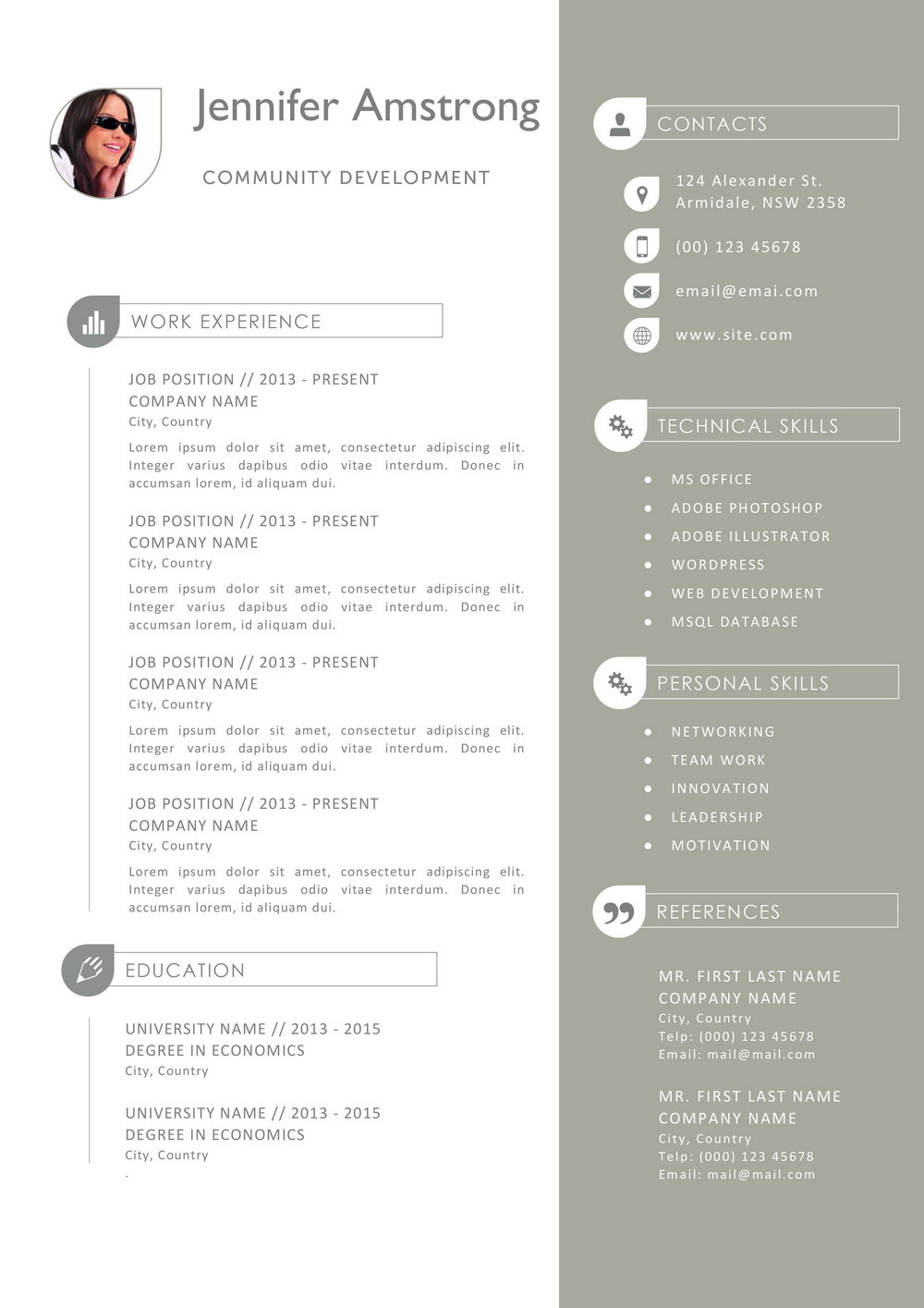 Resume Template For Mac Free