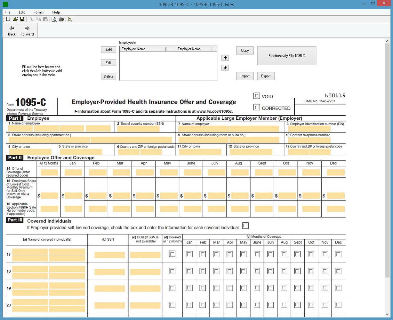 1095 C Form Instructions