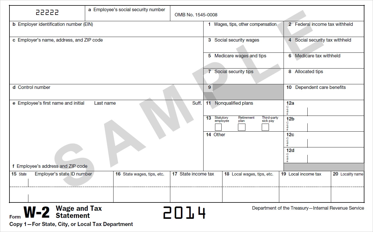 Irs Forms W 2c And W 3c