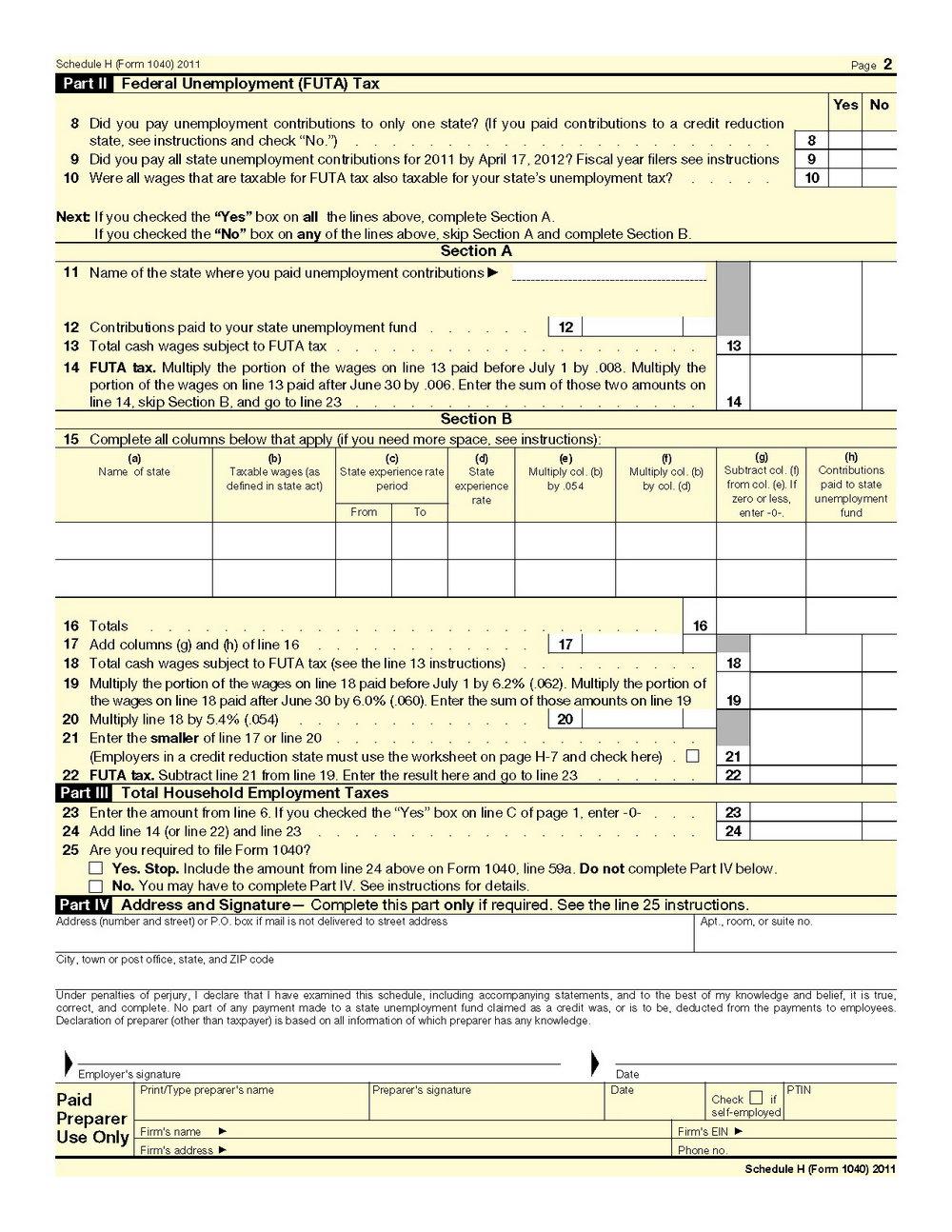 2014 Tax Form 1040a