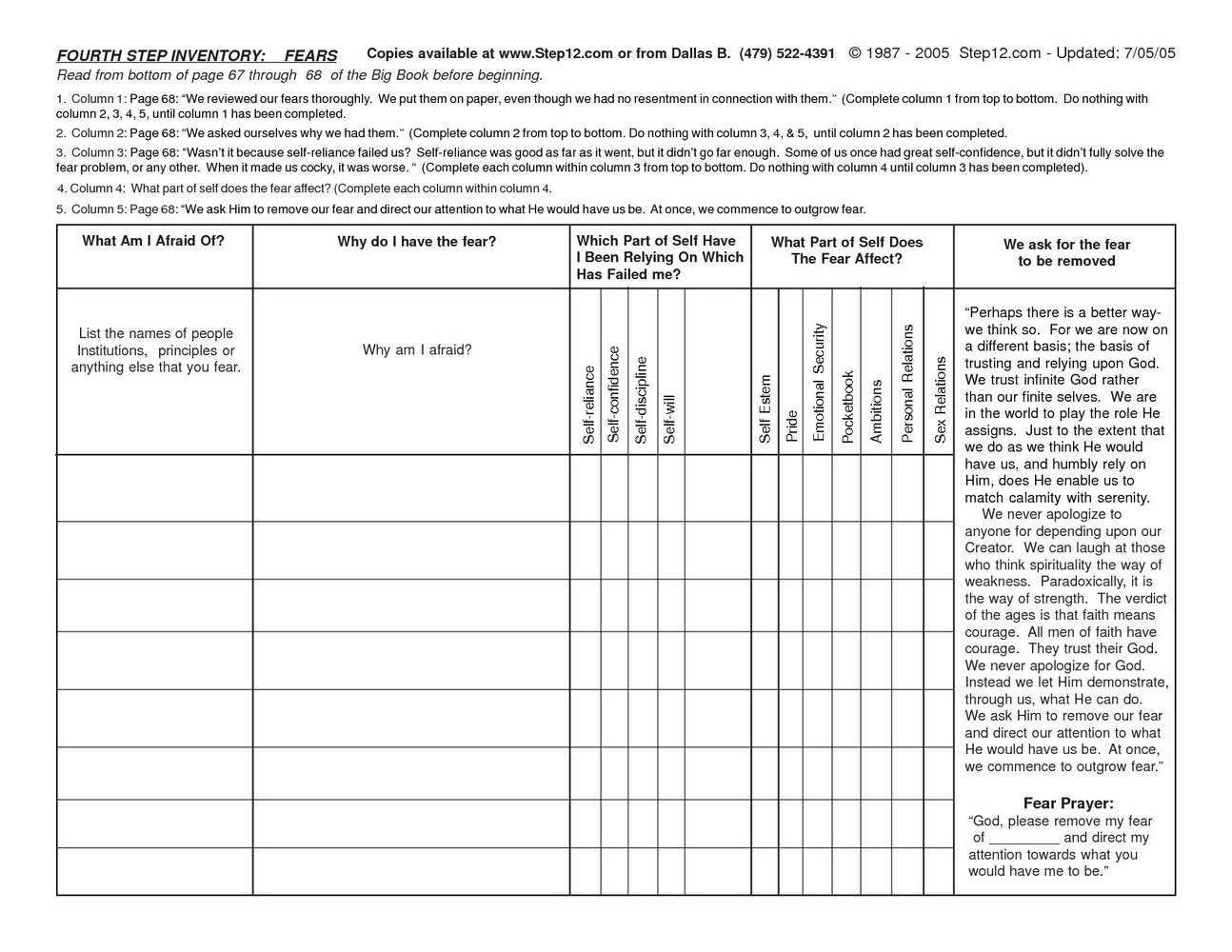 Drug And Alcohol Recovery Worksheets