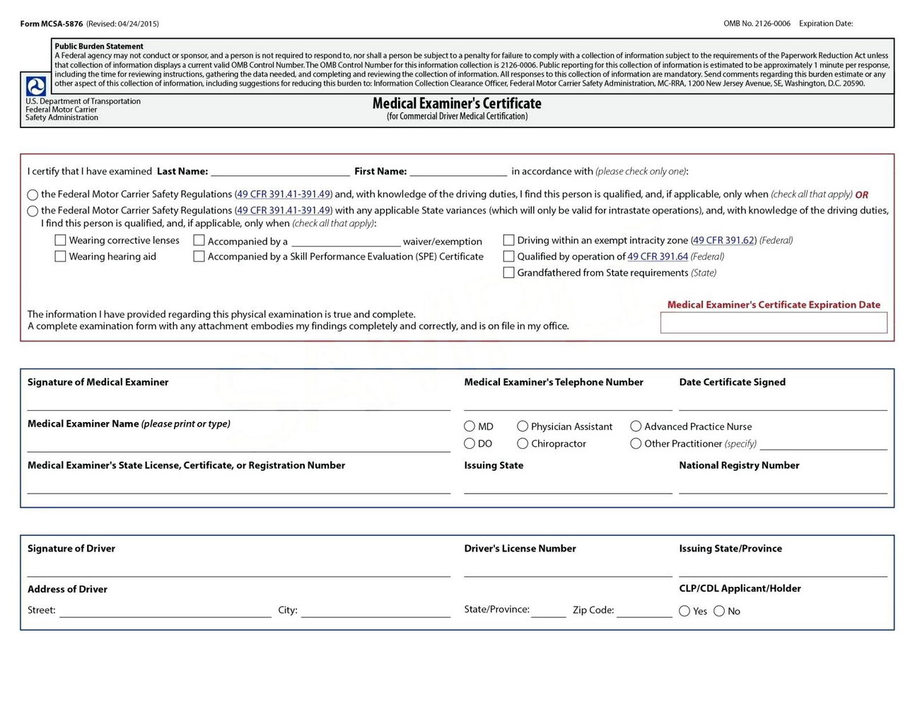 Forklift Certification Form