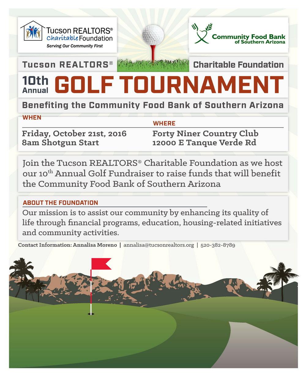 Golf Tournament Fundraiser Flyer Template