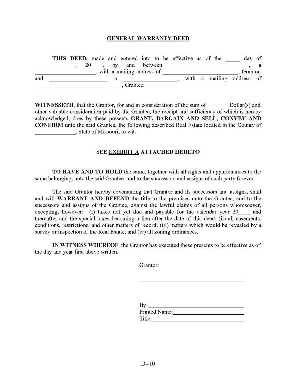 Quit Claim Deed Form Pennsylvania