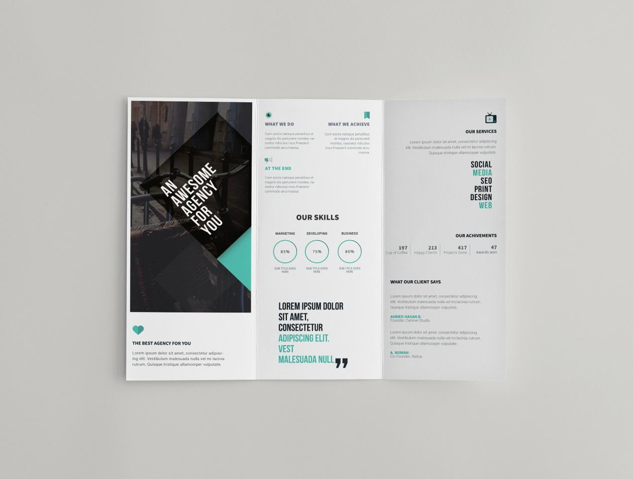 Tri Fold Brochure Template Education