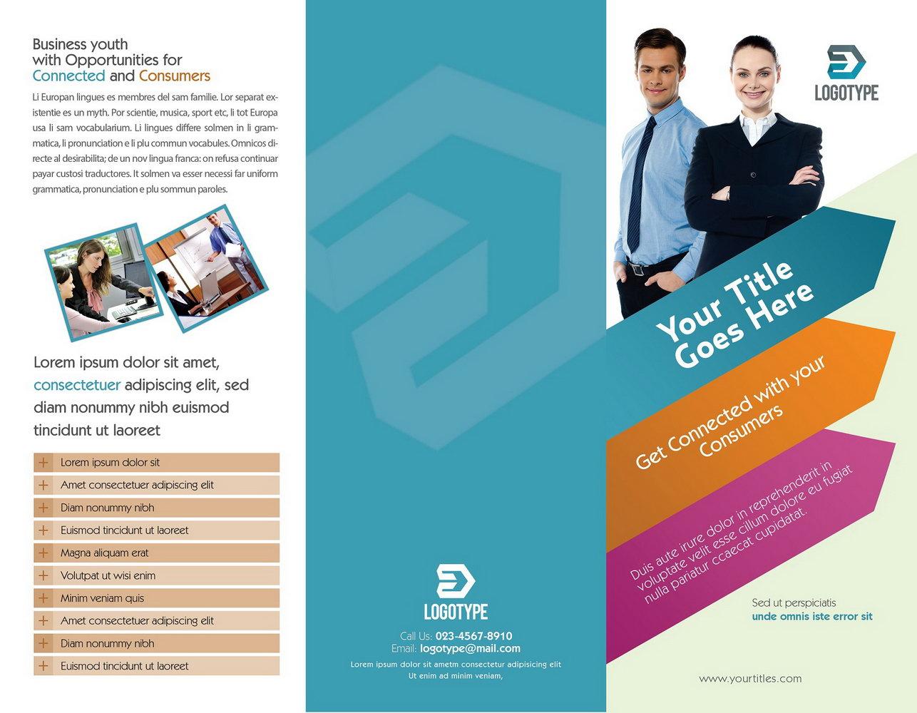 Tri Fold Brochure Template Size