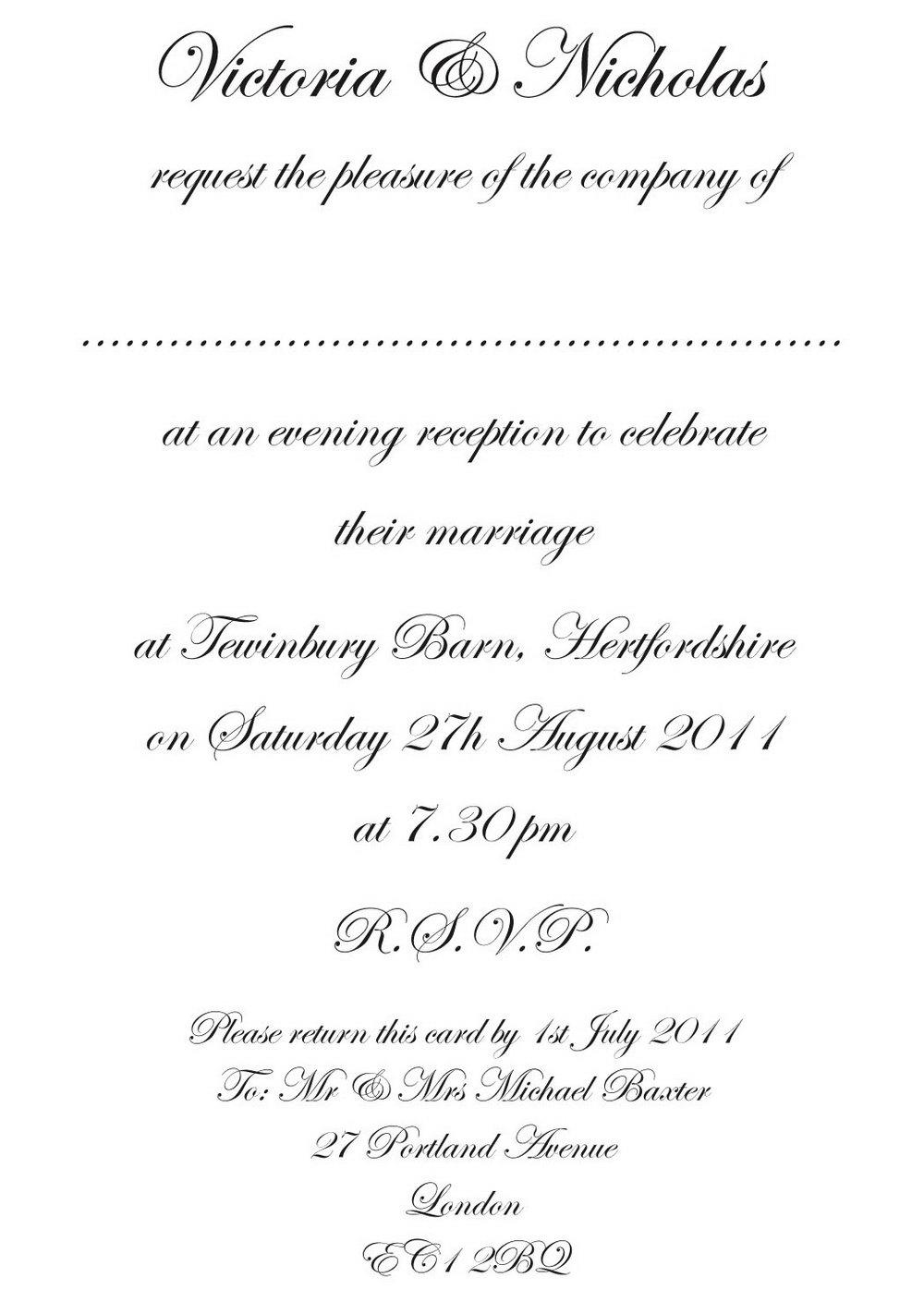 Formal Invitation Template Blank