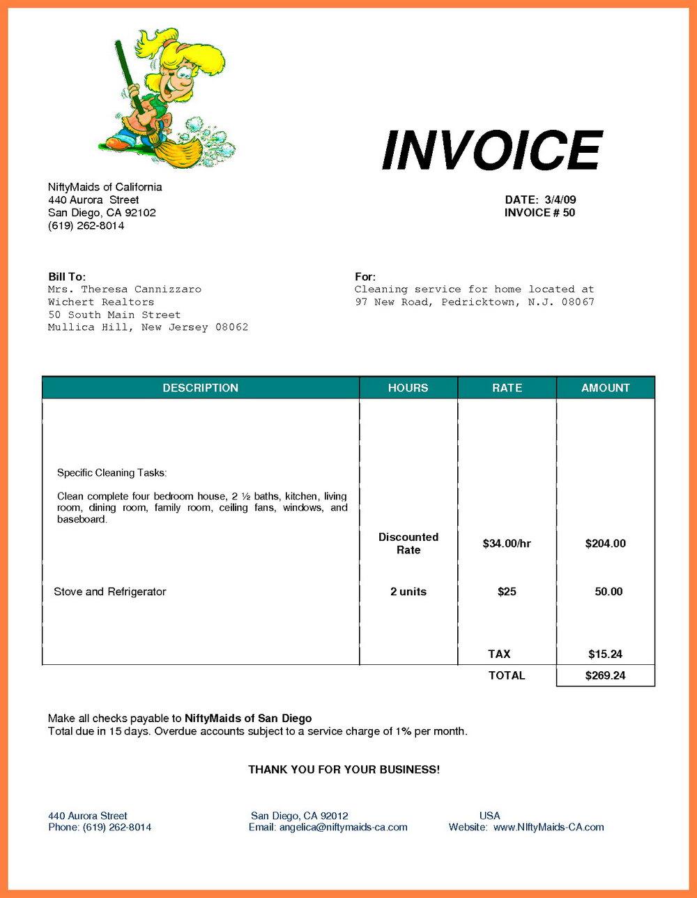 Microsoft Office Invoice Template Australia