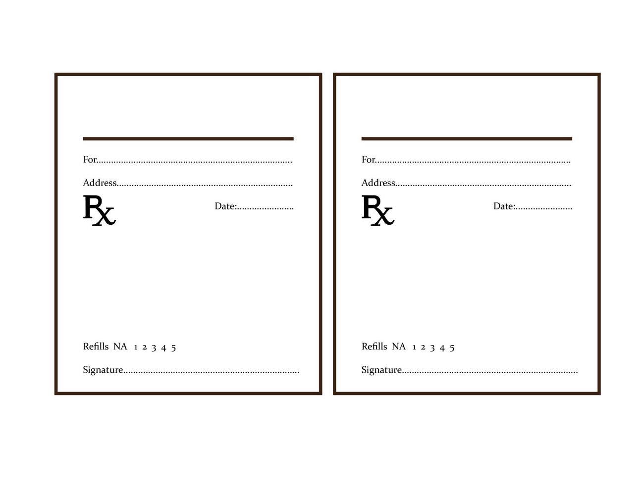 Prescription Label Template