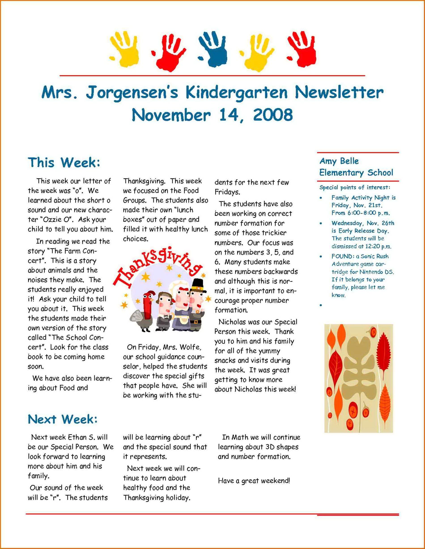 School Newsletter Templates Word Free Download