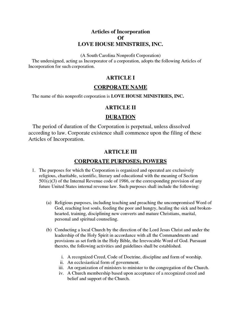 Llc Articles Of Organization Template Free