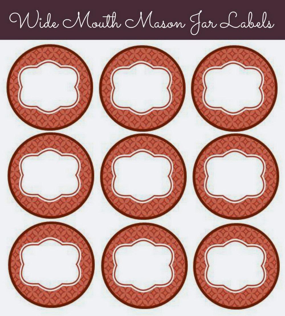 Mason Jar Label Template