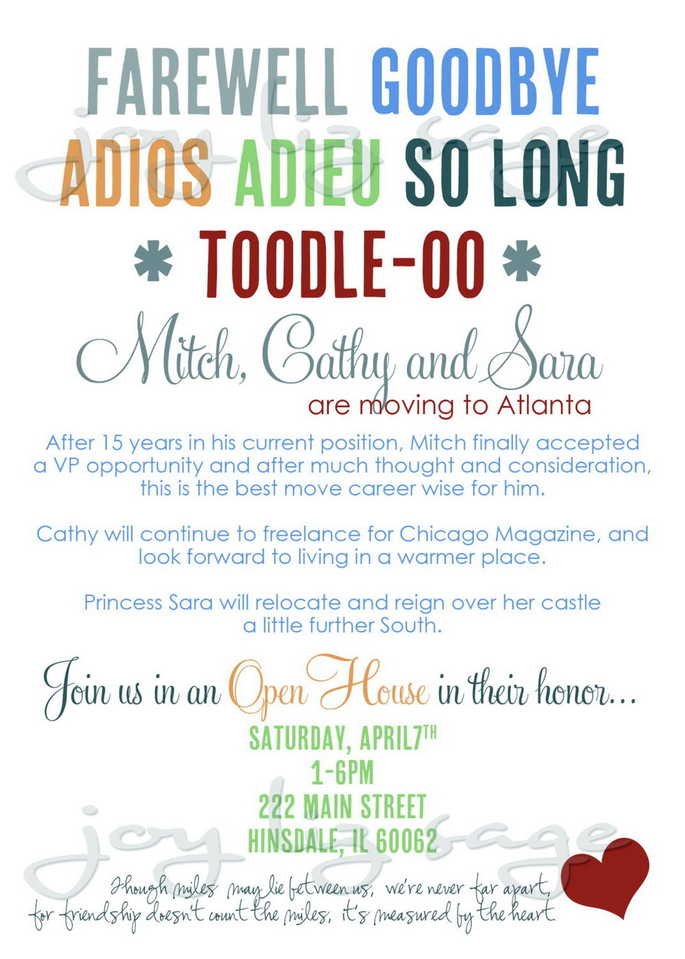 Farewell Party Invitation Template Free