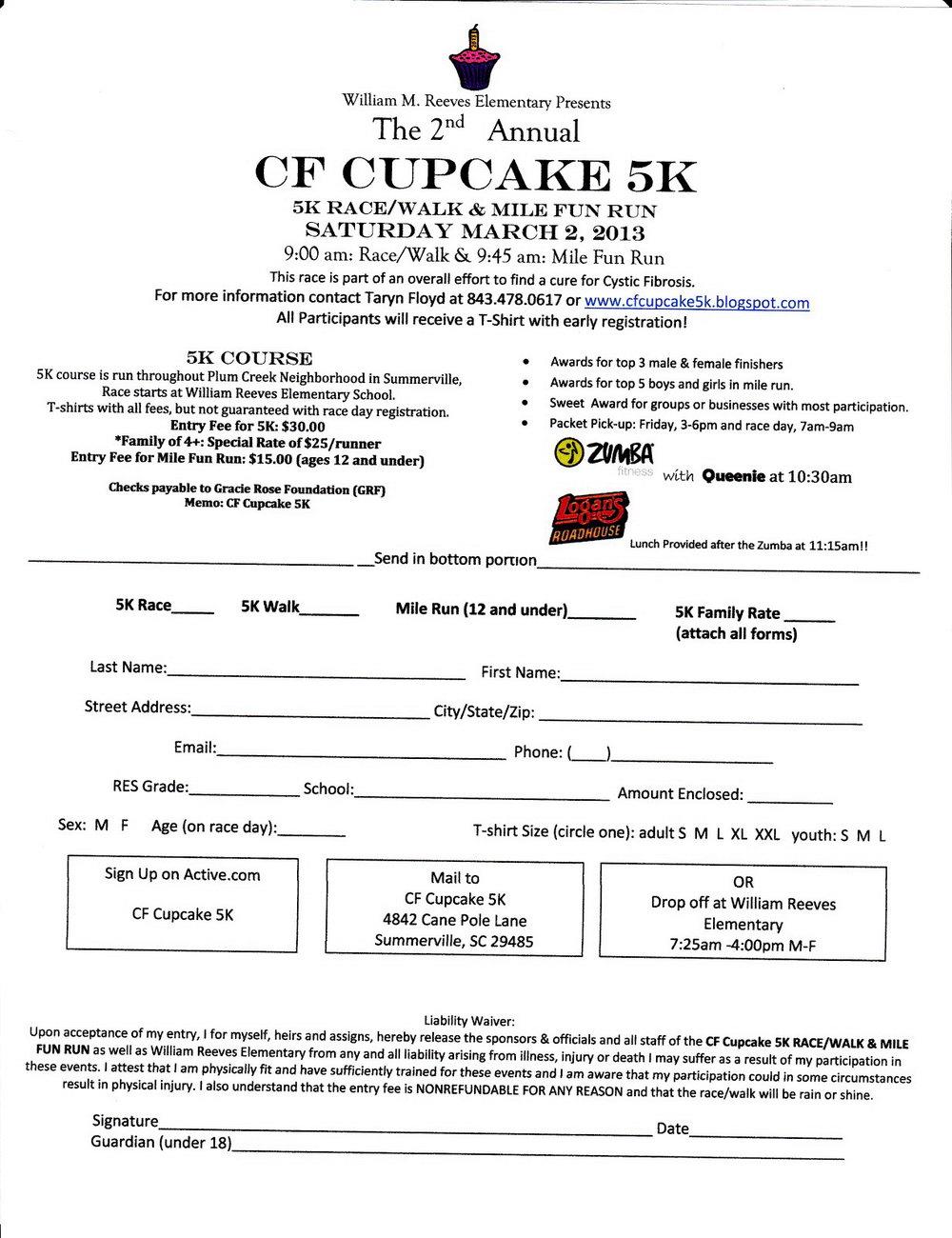 Free 5k Registration Form Template