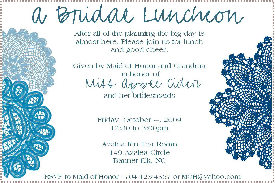 Luncheon Invitation Template
