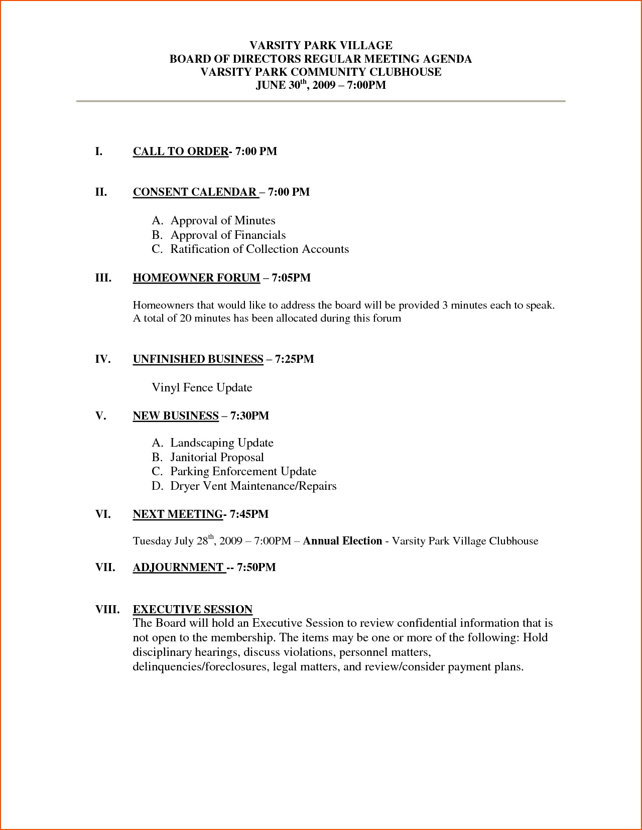 Weekly Sales Meeting Agenda Template