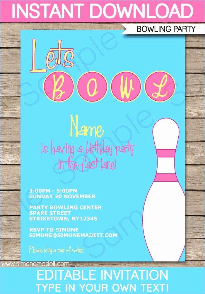 Bowling Invitations Template Free