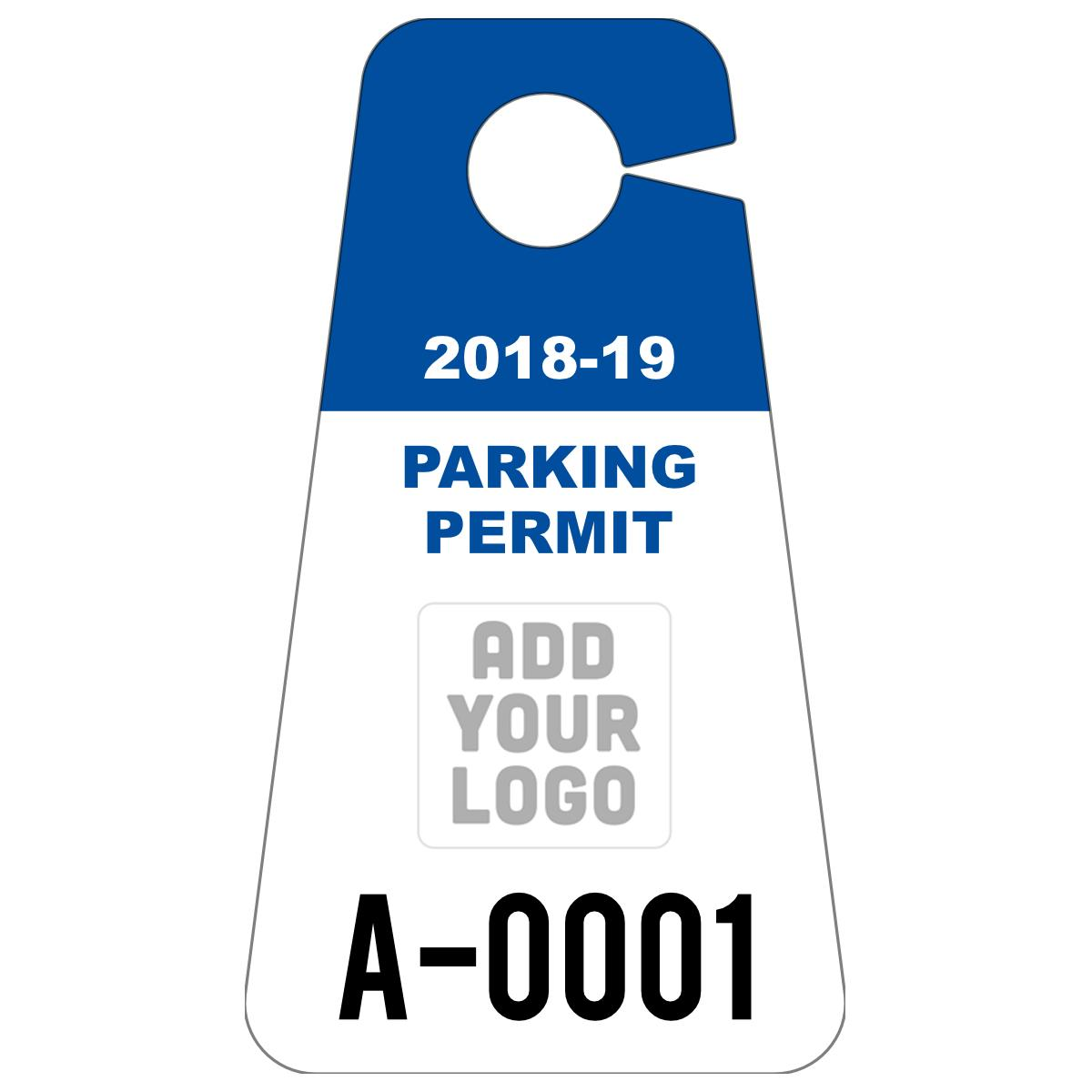 Parking Tag Template