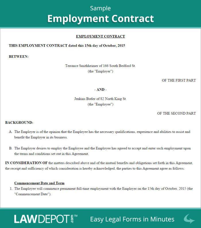 Employee Contract Sample Uae