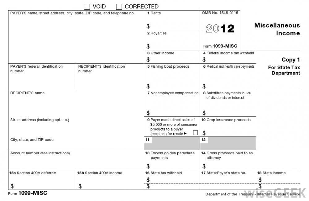 1099 Contract Form