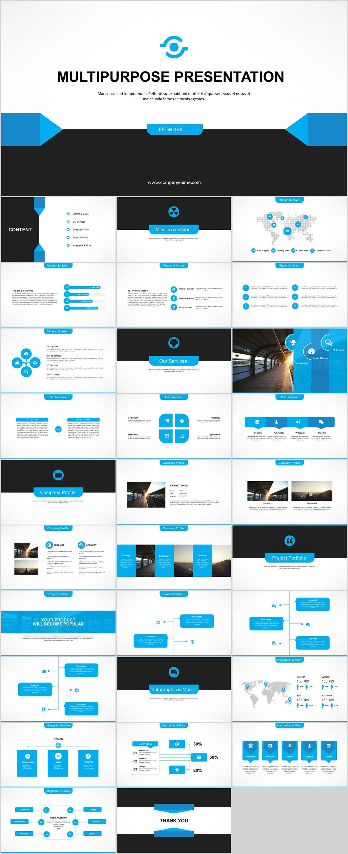 50 Professional Powerpoint And Keynote Presentation Templates