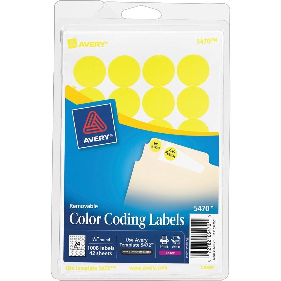 Avery 34 Round Labels Template