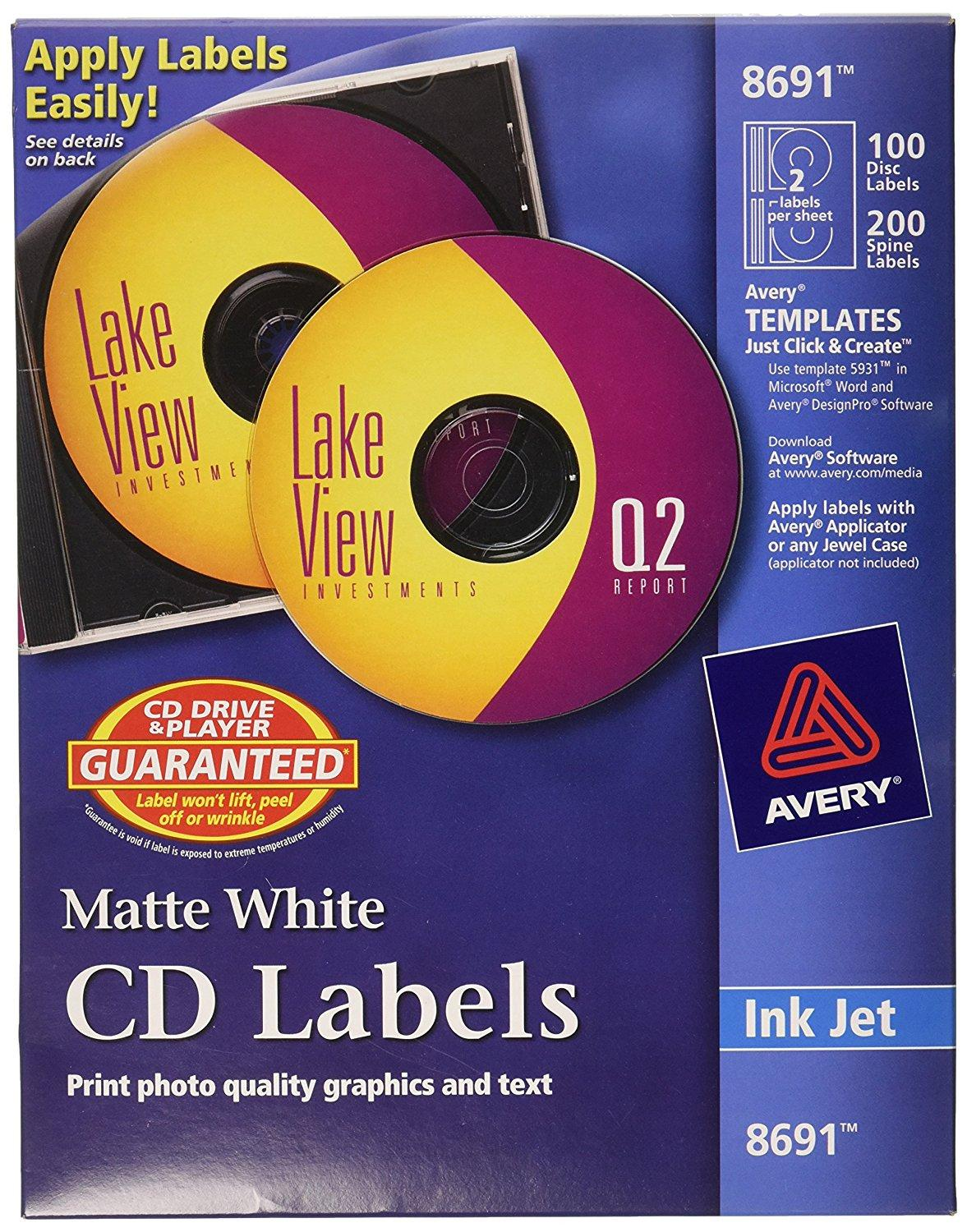 Avery Cd Labels Template 8692