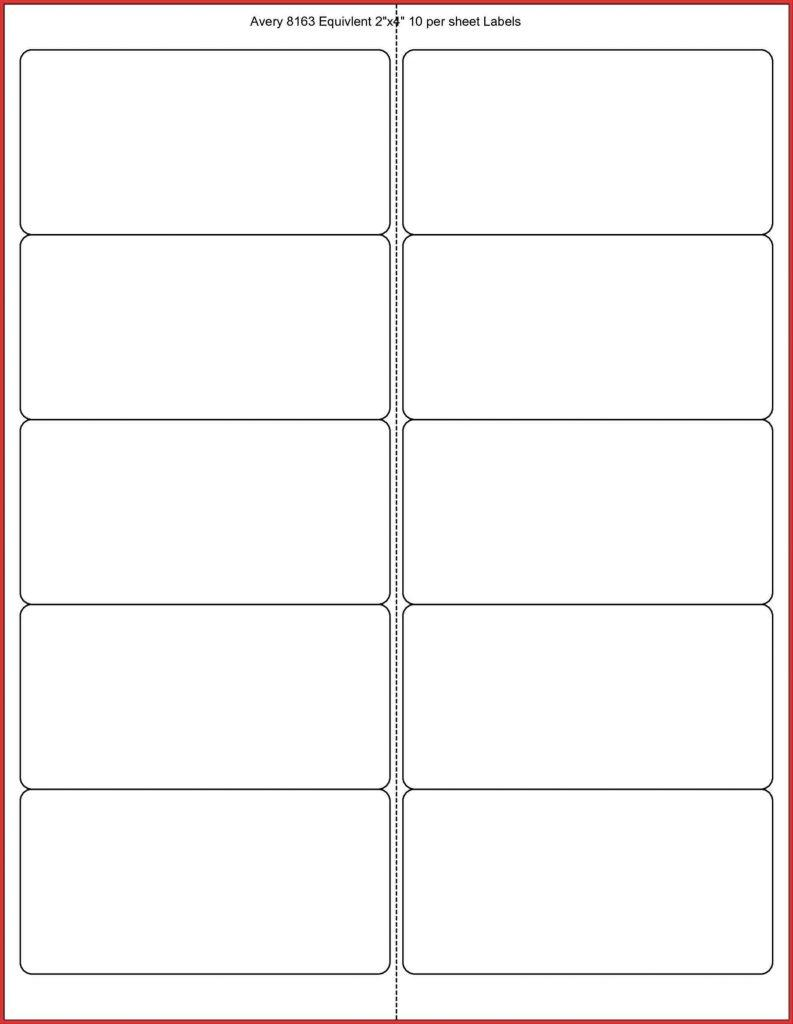 Avery Template Shipping Label 10 Per Sheet
