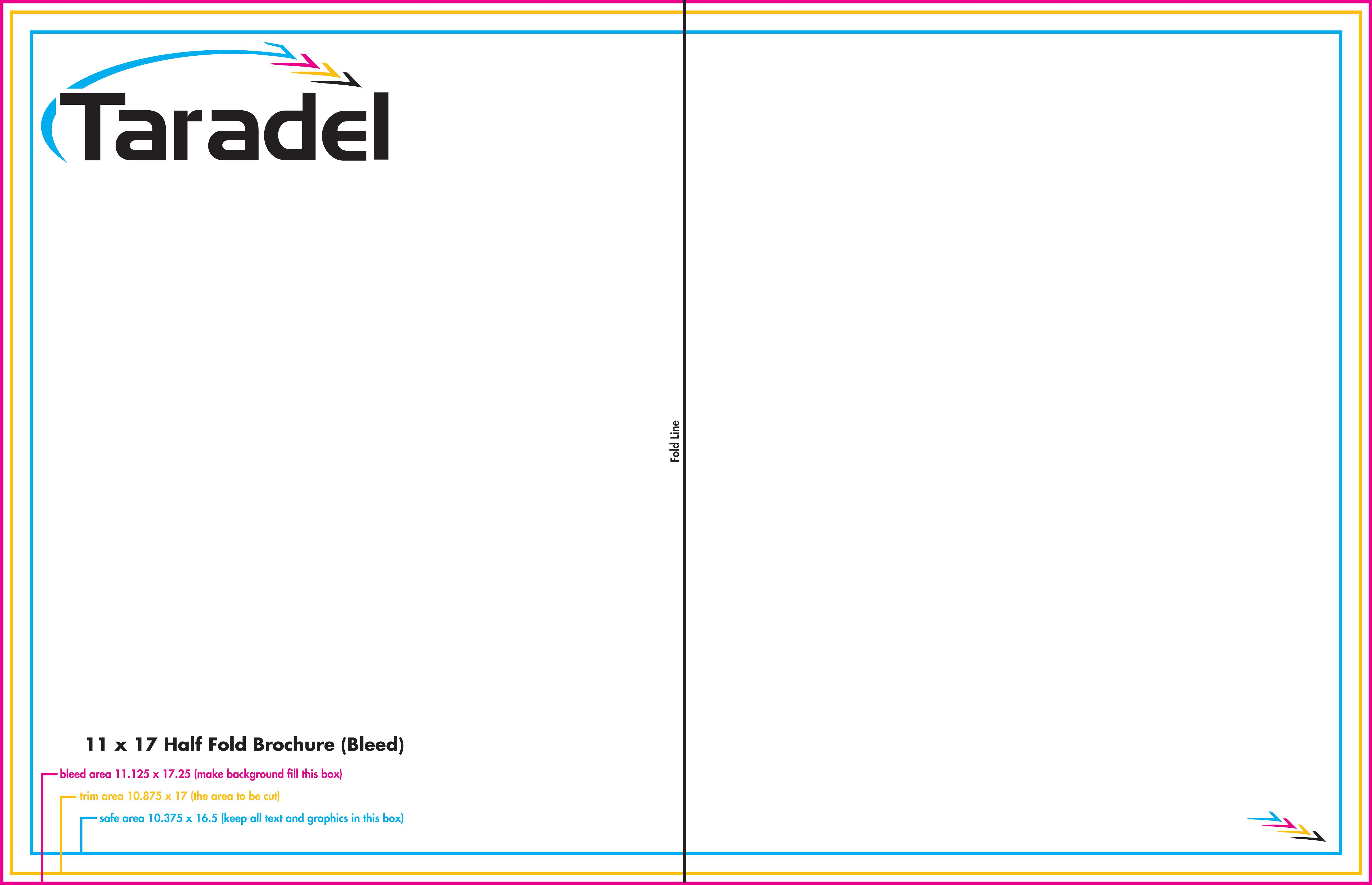 Barrel Fold Brochure Template