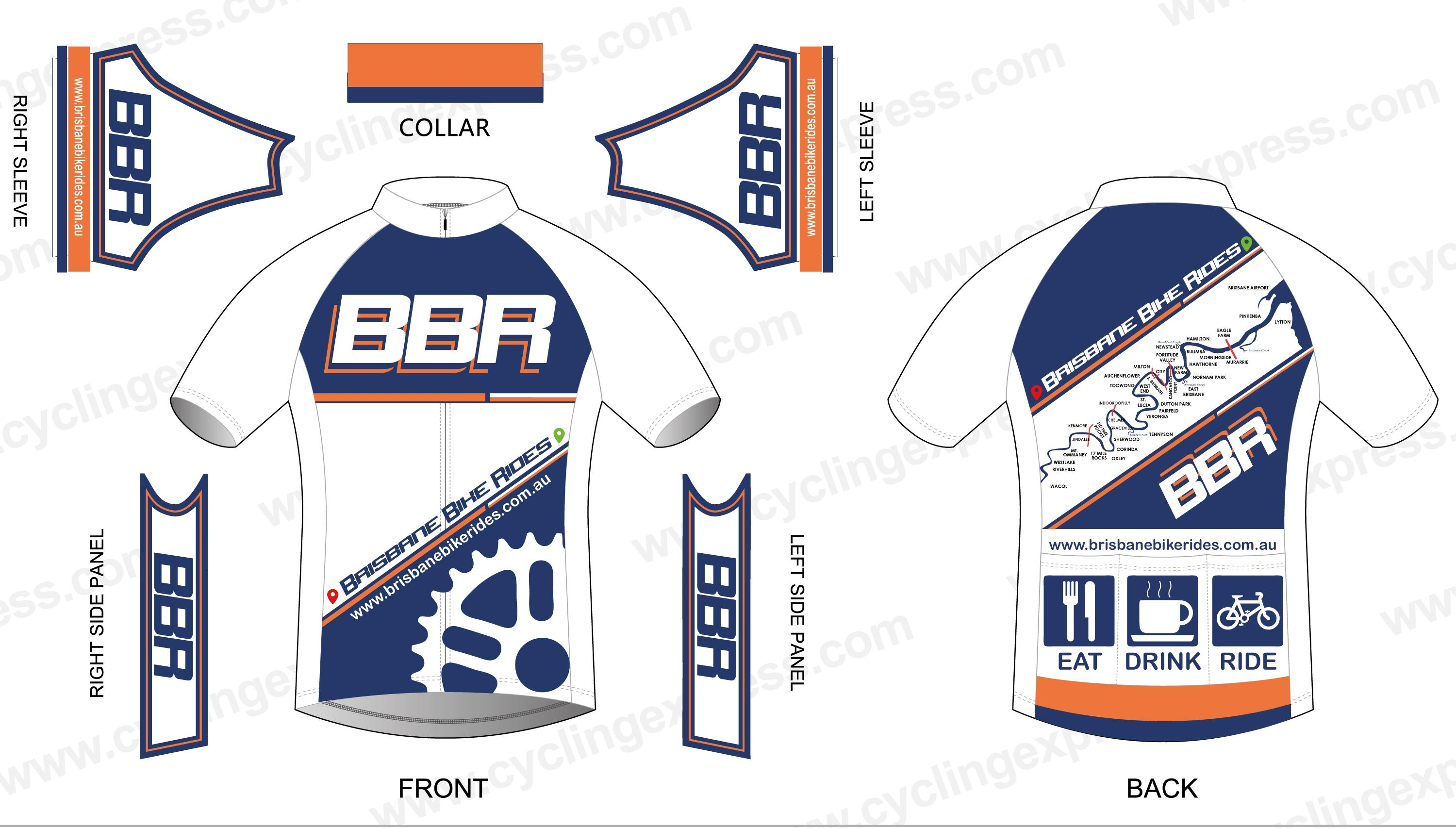 Bicycle Jersey Design Template