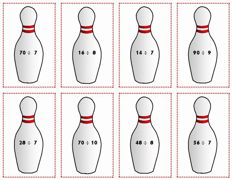 Bowling Pin Birthday Invitation Template