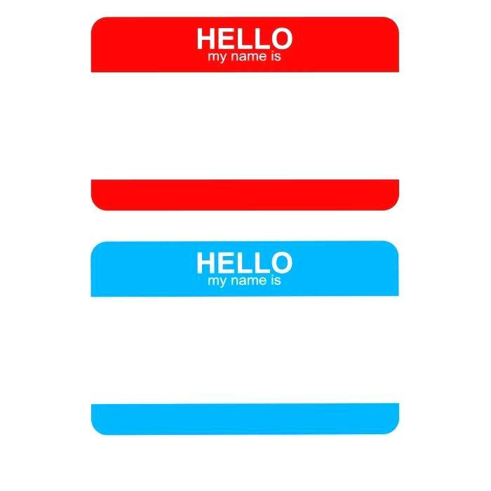 C Line Name Badge Template