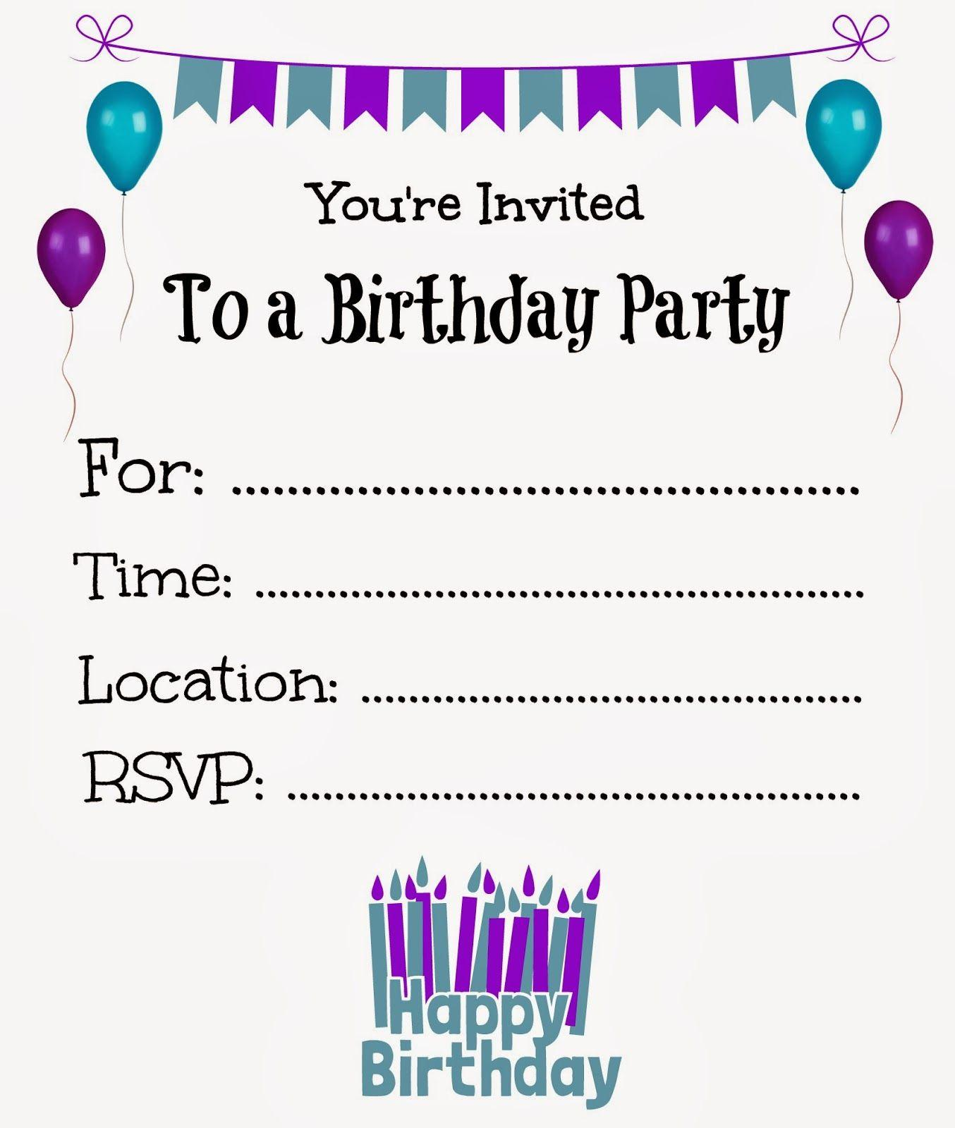 Children's Party Invitations Templates Free