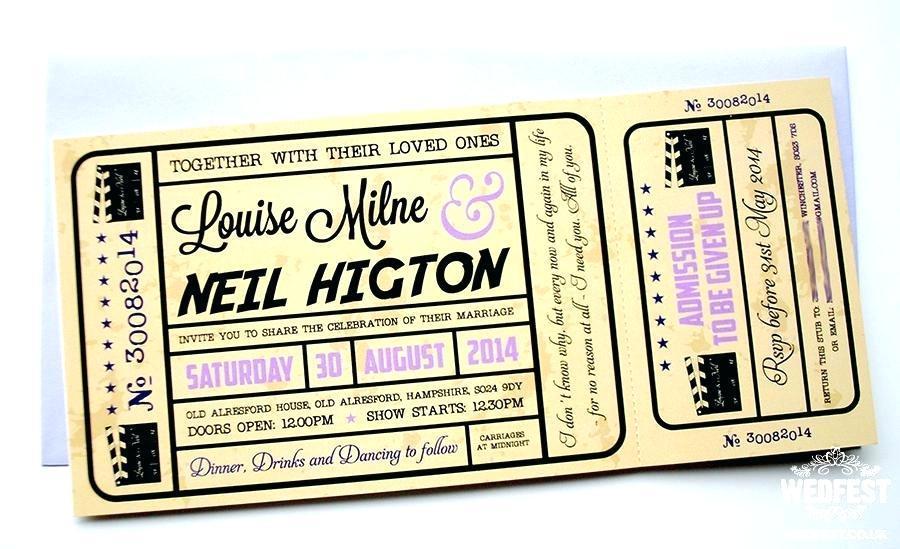 Cinema Ticket Invite Template