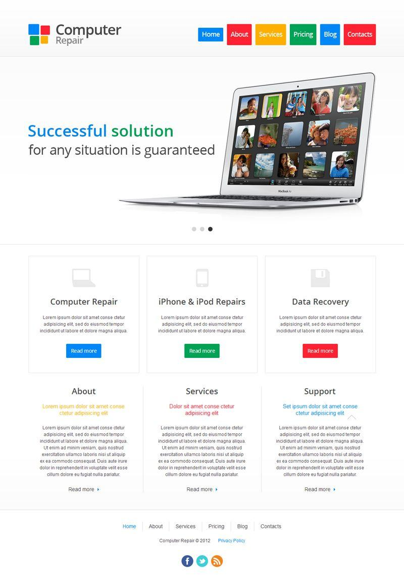 Computer Repair Website Template Joomla Free