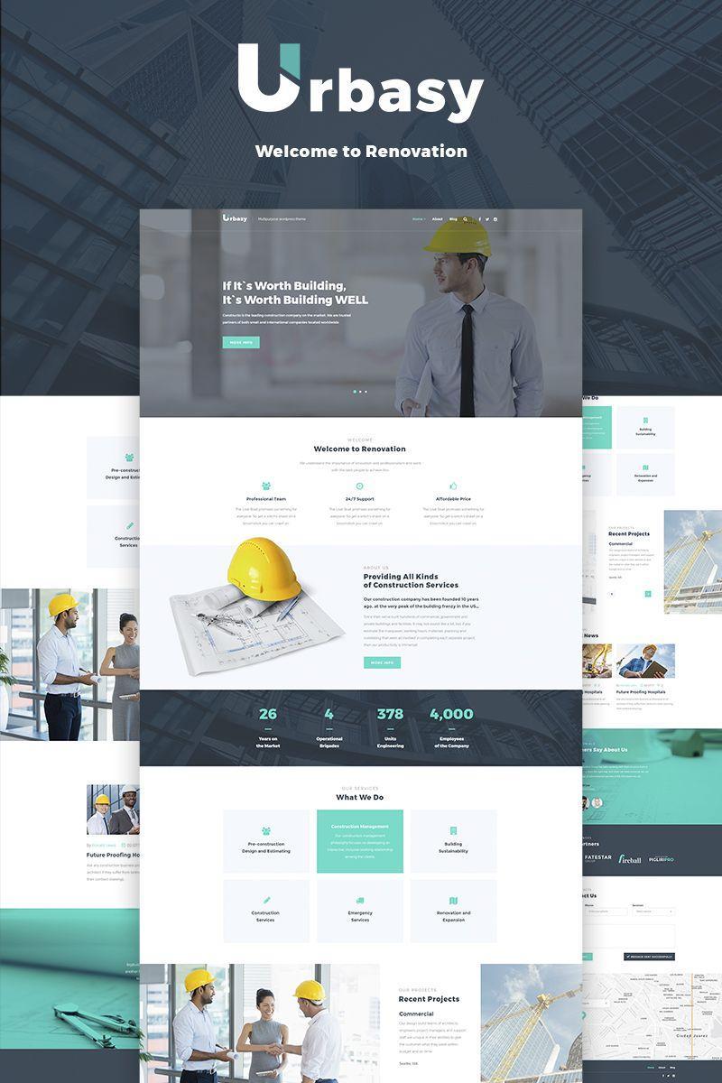 Construction Website Templates Wordpress