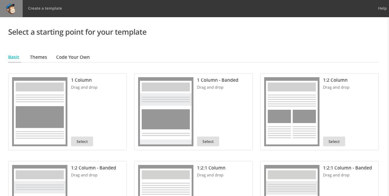 Create Mailchimp Newsletter Template