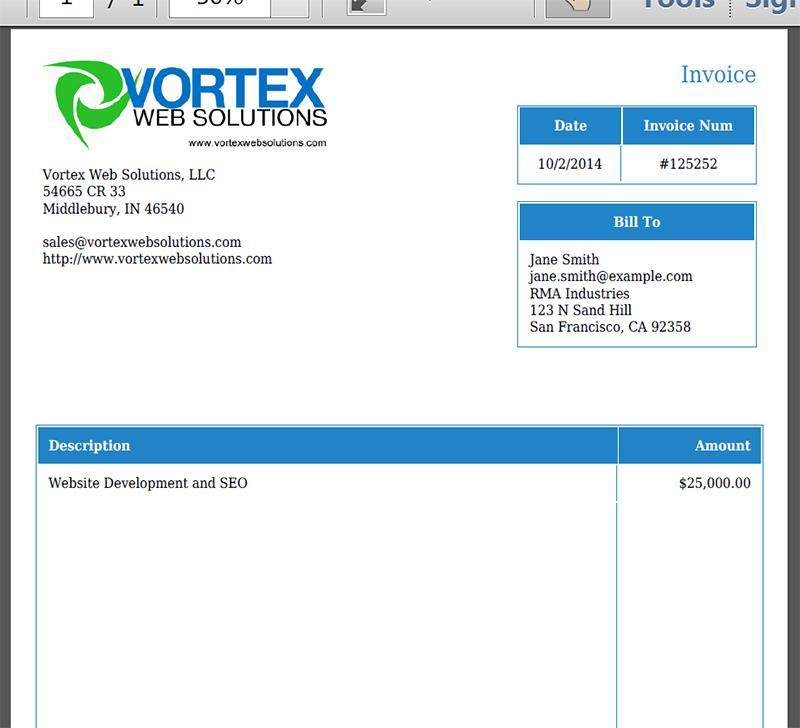 Custom Invoice Template Quickbooks
