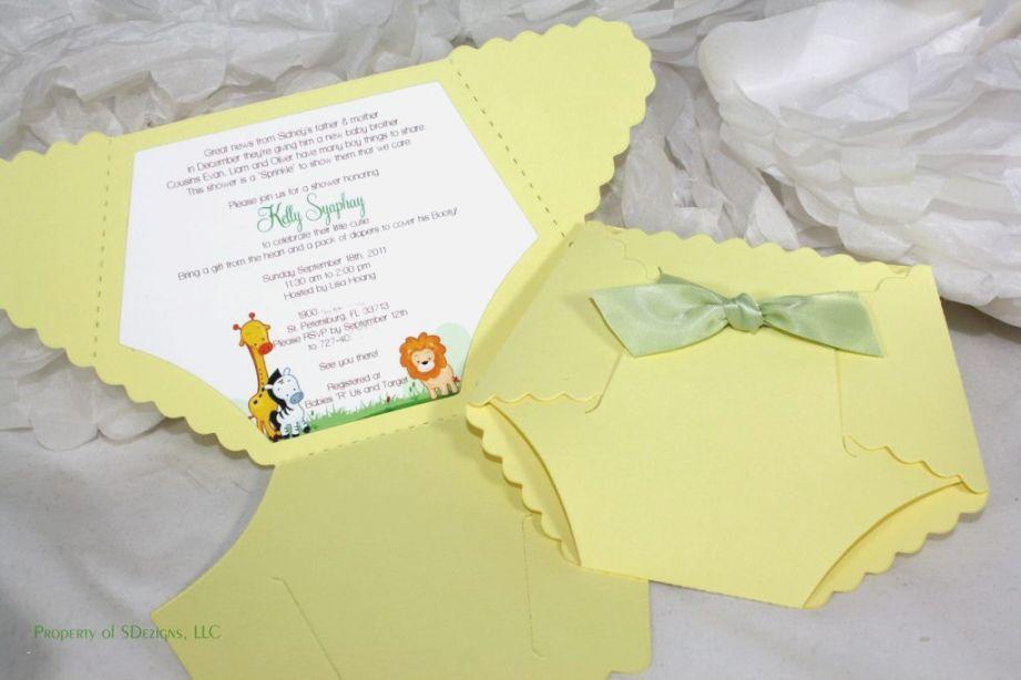 Diaper Invitation Template Free