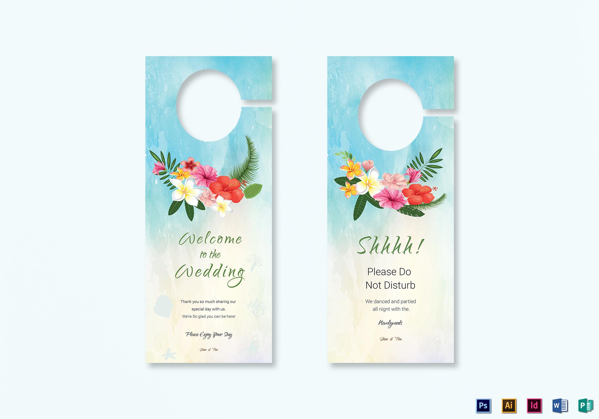 Door Hanger Template Psd