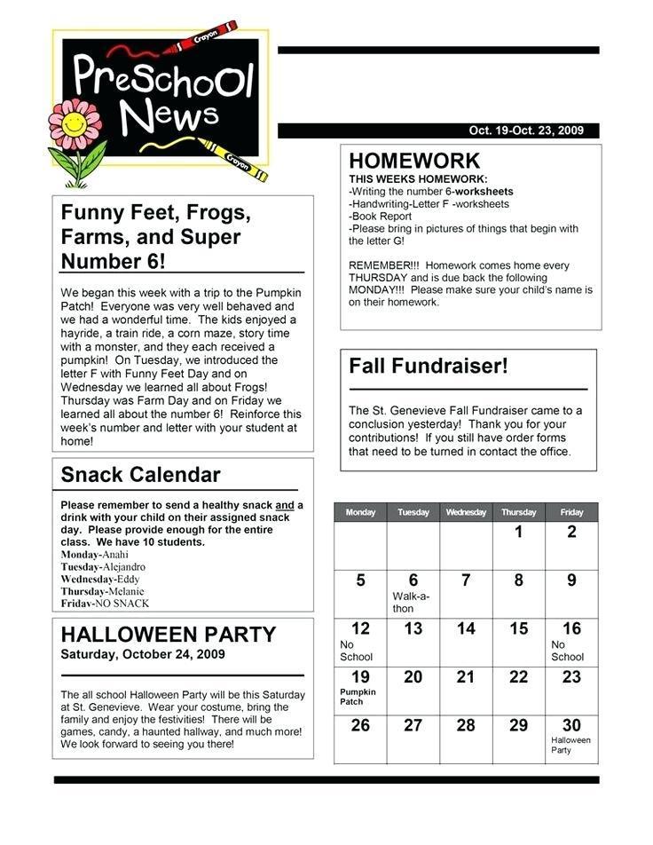 Downloadable Teacher Newsletter Templates
