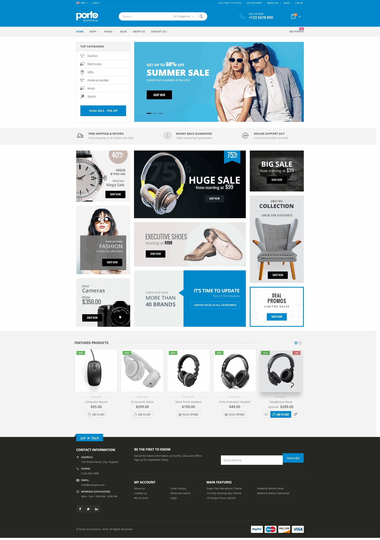 Ecommerce Website Templates Wordpress