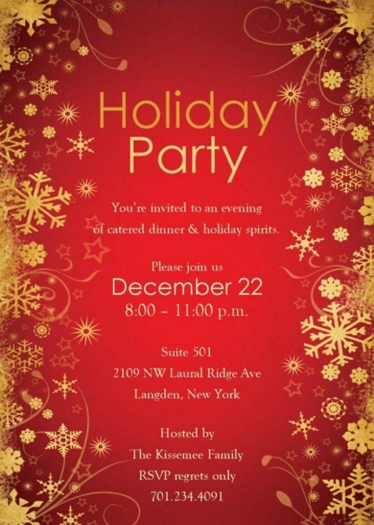 Elegant Christmas Invitation Templates