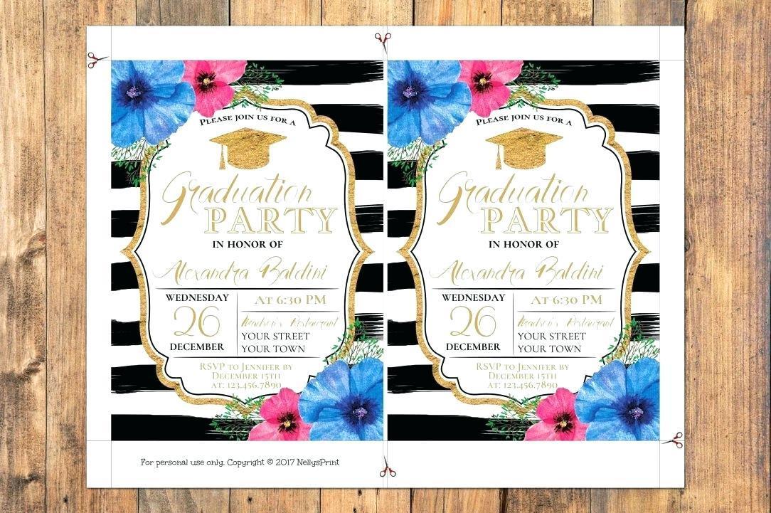 Elegant Graduation Invitation Templates