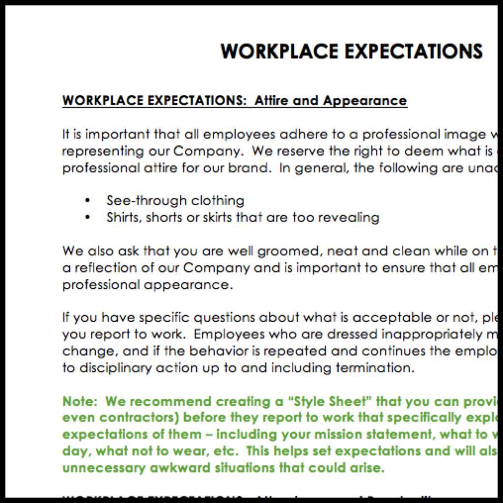 Employee Handbook Sample For It Company