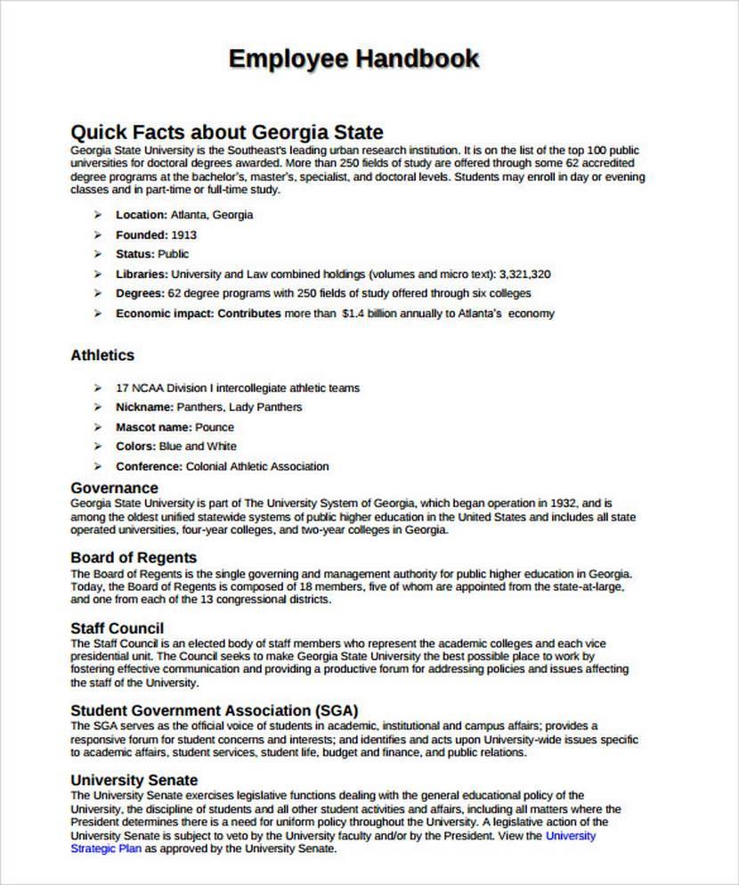 Employee Handbook Sample